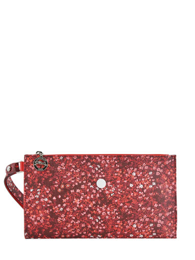 Longchamp Le pliage fleurs Clutches Red