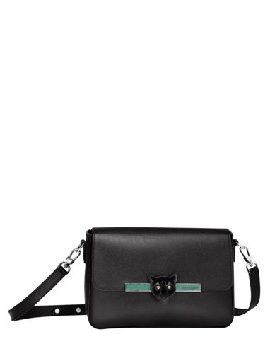 Longchamp Game on Messenger bag Black