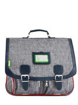 Satchel 2 Compartments Tann's Gray les chines 41138