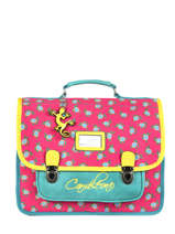 Satchel For Kids 2 Compartments Cameleon Pink retro RET-CA35