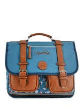 Satchel For Girl 2 Compartments Cameleon Blue vintage fantasy VIG-CA38