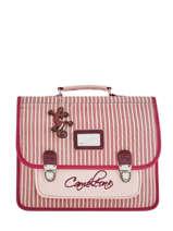 Cartable Enfant 2 Compartiments Cameleon Rose retro vinyl REV-CA35