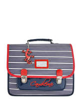 Cartable Enfant 2 Compartiments Cameleon Bleu retro vinyl REV-CA35