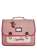 Cartable 2 Compartiments Cameleon Rose retro vinyl REV-CA38