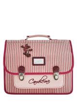 Satchel 2 Compartments Cameleon Pink retro REV-CA38