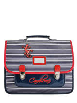 Cartable 2 Compartiments Cameleon Bleu retro vinyl REV-CA38