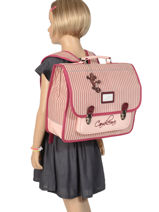 Satchel 2 Compartments Cameleon Pink retro vinyl REV-CA38-vue-porte