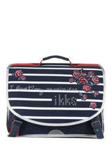 Satchel 2 Compartments Ikks Blue i love my mariniere 38821
