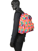 Sac à Dos Padded Andy Eastpak Multicolore pbg andy warhol PBGK620A-vue-porte