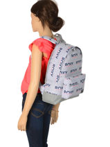 Backpack 1 Compartment Roxy Gray back to school RJBP3950-vue-porte