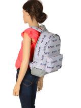 Sac à Dos 1 Compartiment Roxy Gris back to school RJBP3950-vue-porte