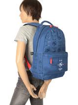 Backpack Federat. france football Blue equipe de france 193X204B-vue-porte