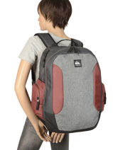 Backpack 2 Compartments Schoolie Quiksilver Black youth access QYBP3557-vue-porte