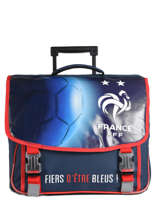 Cartable à Roulettes Federat. france football Bleu equipe de france 193X203R