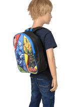 Mini Backpack Quadri Avengers Multicolor quadri AVNI03-vue-porte