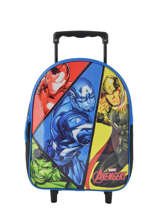 Backpack On Wheels 1 Compartment Avengers Multicolor quadri AVNI04