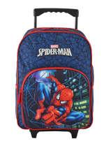 Wheeled Backpack Mask Spiderman Blue mask SPIEI08