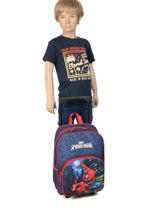 Wheeled Backpack Mask Spiderman Blue mask SPIEI08-vue-porte