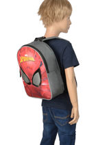 Mini Backpack Mask Spiderman Red mask SPINI03-vue-porte