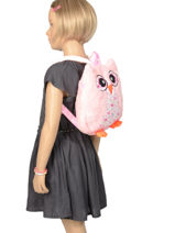 Backpack Mini Animal Pink kids KIDNI02-vue-porte