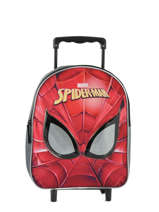 Wheeled Backpack Mask Spiderman Red mask SPINI04