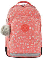 Backpack 2 Compartments + 15'' Pc Kipling Pink back to school I4053