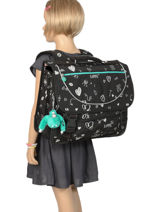 Cartable 2 Compartiments Kipling Noir back to school 12074-vue-porte