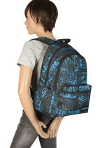 Backpack 2 Compartments With Matching Pencil Case Rip curl Blue frame deal BBPNY4-vue-porte