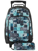 Wheeled Backpack With Free Pencil Case Quiksilver Black youth access kids QBBP3035