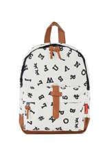 Backpack Mini Kidzroom Black black and white 30-8178