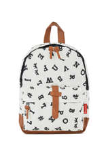 Sac à Dos Mini Kidzroom Noir black and white 30-8178