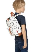 Backpack Mini Kidzroom Black black and white 30-8178-vue-porte