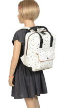Mini Backpack Black & Gold Kidzroom White black and gold 30-8952-vue-porte