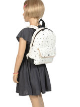 Mini Backpack Black & Gold Kidzroom Brown black and gold 30-8953-vue-porte
