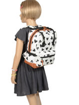 Backpack Mini Kidzroom Black black and white 30-8975-vue-porte