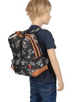 Backpack Mini Kidzroom Black black and white 30-8975-vue-porte