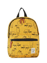 Sac à Dos Mini Animal Academy Kidzroom Jaune animal academy 30-9958