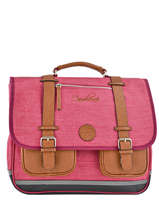 Cartable Enfant 3 Compartiments Cameleon Rose vintage chine VIN-CA41
