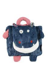 Mini Backpack Globe Trotoys Les deglingos Blue globe trotoys 350