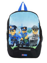 Mini Backpack Lego Black city police chopper 10030-35