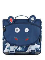 Schoolbag Globe Trotoys Les deglingos Blue globe trotoys 305