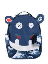 Backpack Globe Trotoys Les deglingos Blue globe trotoys 310