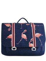 Maxi Schoolbag 2 Compartments Jeune premier Blue canvas ITX19
