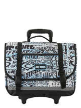 Wheeled Schoolbag 2 Compartments Rip curl Blue cover up BBPNI4