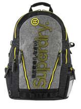 "Sac à Dos Monoline Tarp + Pc15"" Superdry Gris backpack men M91802MU"