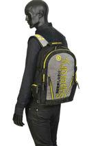 "Sac à Dos Monoline Tarp + Pc15"" Superdry Gris backpack men M91802MU-vue-porte"