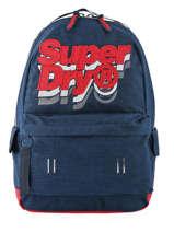 Backpack 1 Compartment Superdry Blue backpack men M91801MU
