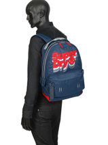 Sac à Dos 1 Compartiment Superdry Bleu backpack men M91801MU-vue-porte