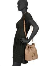 Bucket Bag Corona Leather Furla Brown corona 20L-BUX9-vue-porte