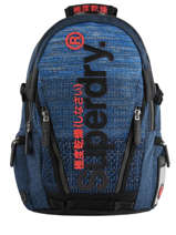 "Backpack Knip Tarp 2 Compartments + Pc15"" Superdry Blue backpack men M91800JU"